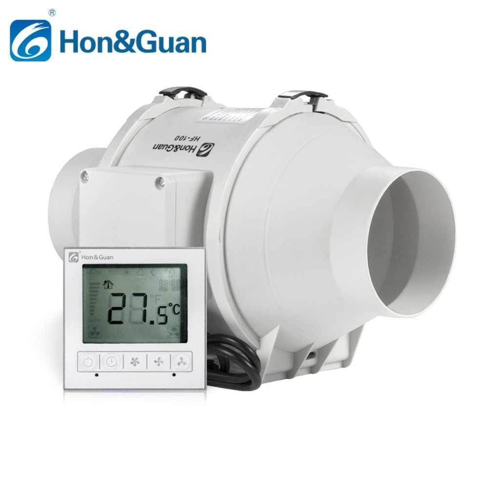 hight resolution of 4 inch timer extractor inline duct fan with smart wired switch suitable for indoor exhaust ventilation