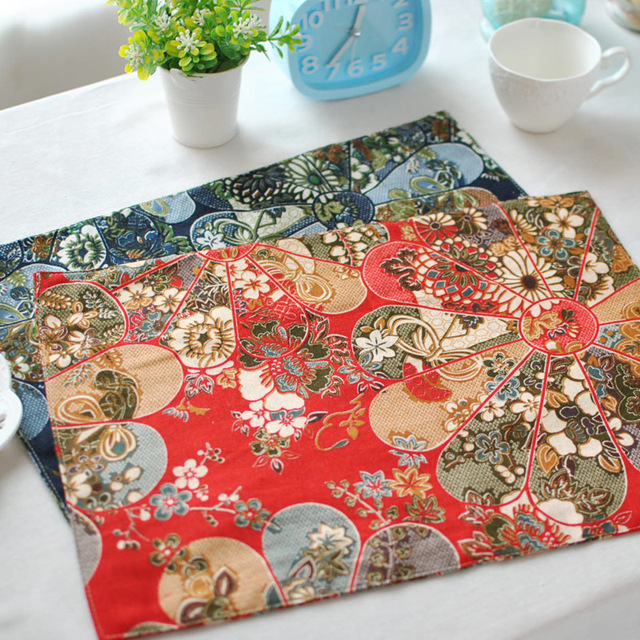 Manufacturers Professional Custom Hotel Cloth Art Meal Pad Japanese - Table pad manufacturers