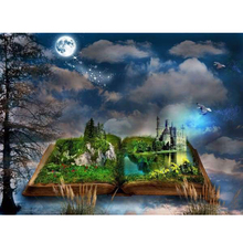 Book city diamond Embroidery diy painting mosaic diamant 3d cross stitch pictures H720