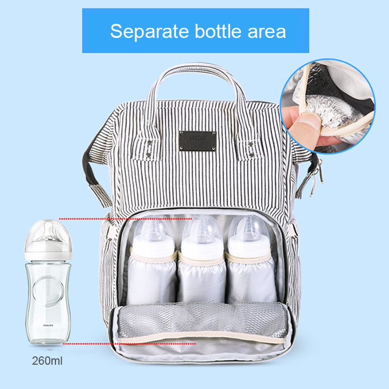 Baby Diaper Bag Mummy Maternity Travel Waterproof Bag Nappy Changing Backpack Organizer Nursing Wet Bag Large Capacity Baby Bag (12)