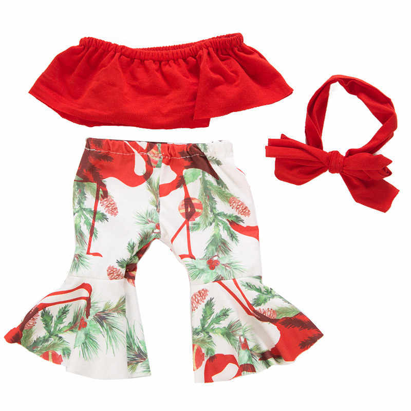 3 шт./компл. кукла для маленьких девочек, комплекты одежды, наряд для 43 см, милая кукла на одно плечо + расклешенные штаны, кукольный комплект, 18 дюймовых кукол одежда