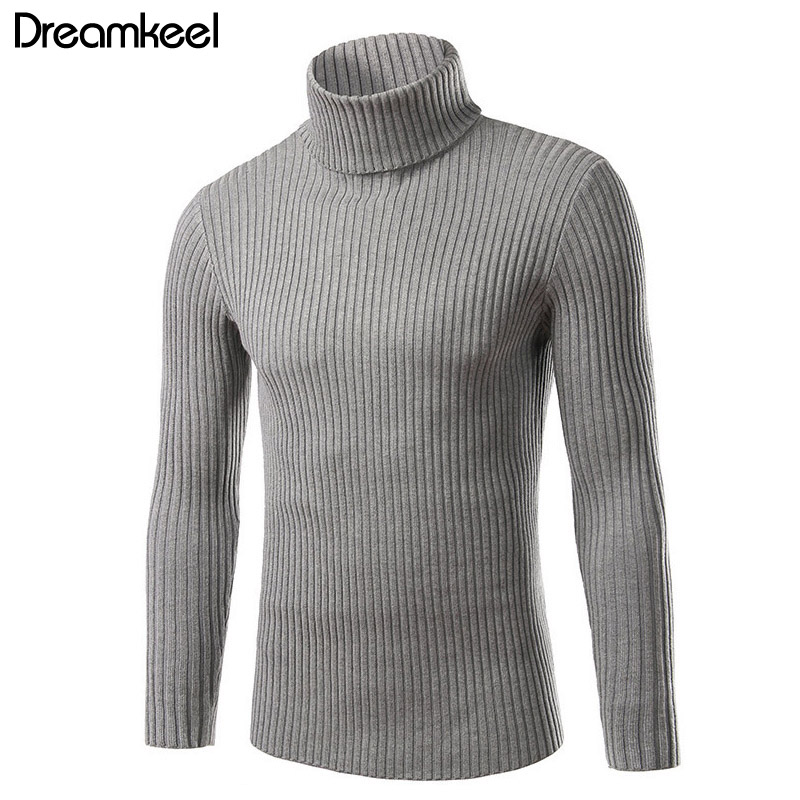 2019 Sweater Men Turtleneck Mens Sweaters Slim Fit Pullover Men Classic Wool Knitwear Pull Homme Winter Thick Warm Cashmere Y