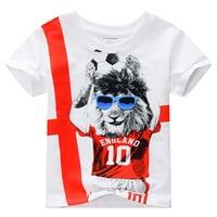 2017 T Shirt Boys Clothes Kid T Shirt England Football Children Clothes Summer Short Sleeve Tee