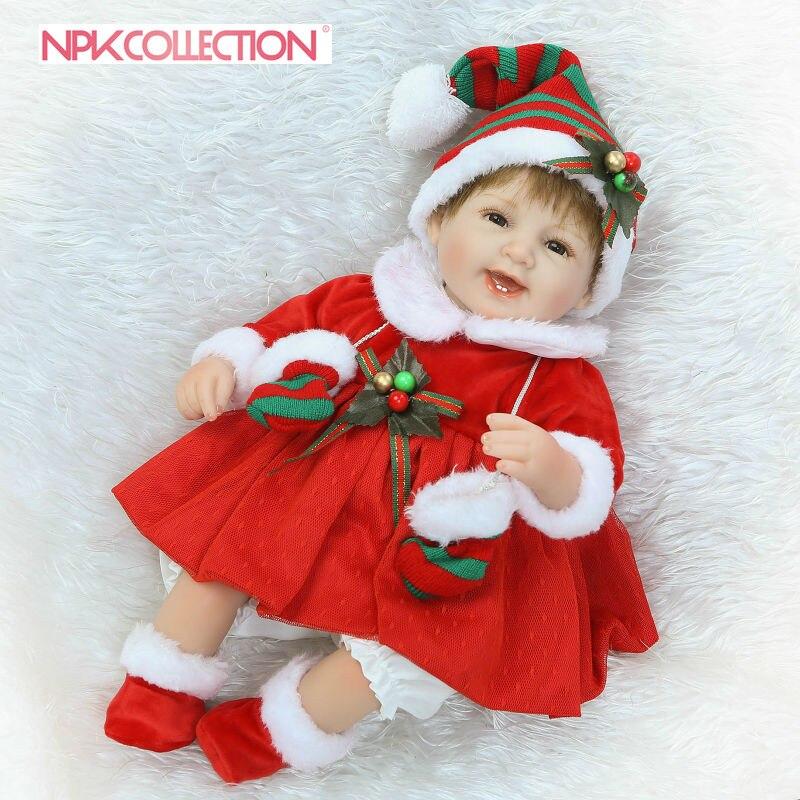 NPK lifelike Reborn Lovely Smile Premie Baby Doll Realistic Baby Playing Toys For kids popular Birthday Christmas Gift