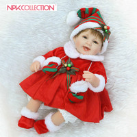 NPK lifelike Reborn Lovely Smile Premie Baby Doll Realistic Baby Playing Toys For kids popular Birthday Christmas Gift