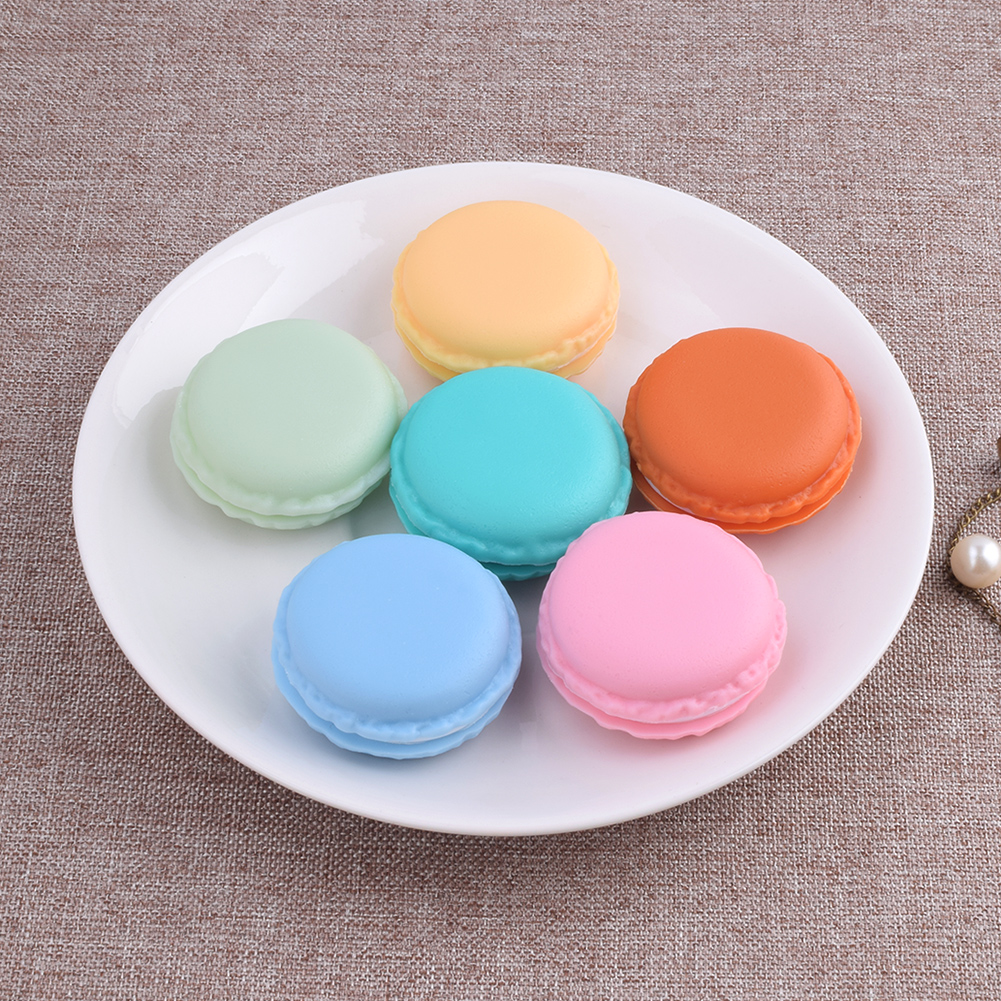 Portable Candy Color Mini Cute Kawaii Macarons Jewelry Ring Earring Necklace Pills Ear Studs Carrying Case Organizer Storage Box