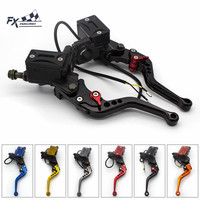 Universal 22mm Motorcycle Brake Clutch Master Cylinder Reservoir Pump Levers Hydraulic Clutch Lever For 50CC 300CC