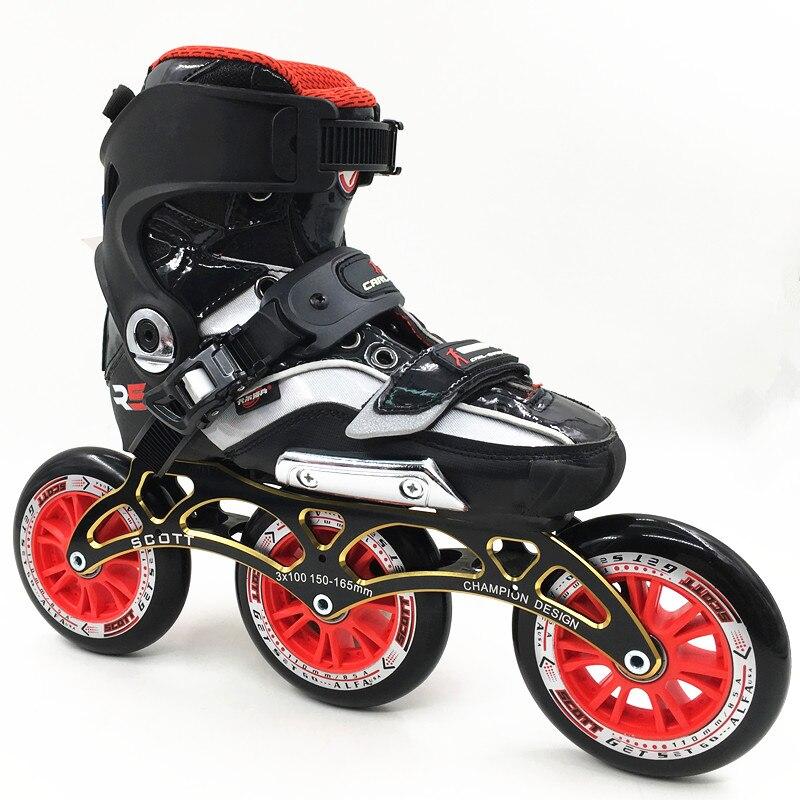 Original RS roller SKATE Inline Skates Street Free Style Roller Skating Shoes 3 wheels 110mm Skates