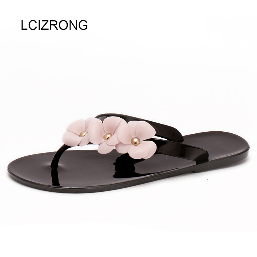LCIZRONG New Fashion Women Flip Flops 36-41 Big Size Sandals Beach Jelly Solid Ladies Flat Shoes Casual Non-slip Sandals Female new 2018 women open toe flip flops fashion ankle strap gladiator sandals women big size 34 43 ladies casual flat rome sandals