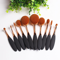 10pcs Makeup Brush Set Professional Foundation Eyeliner Powder Eyeshadow Cosmetics Make Up Beauty Essential Makeup Brushes