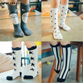 Baby Kids Knee High Socks Children Cotton Cartoon Striped Socks for Girls Spring Autumn Winter Leg Warmers calzini neonato CS083