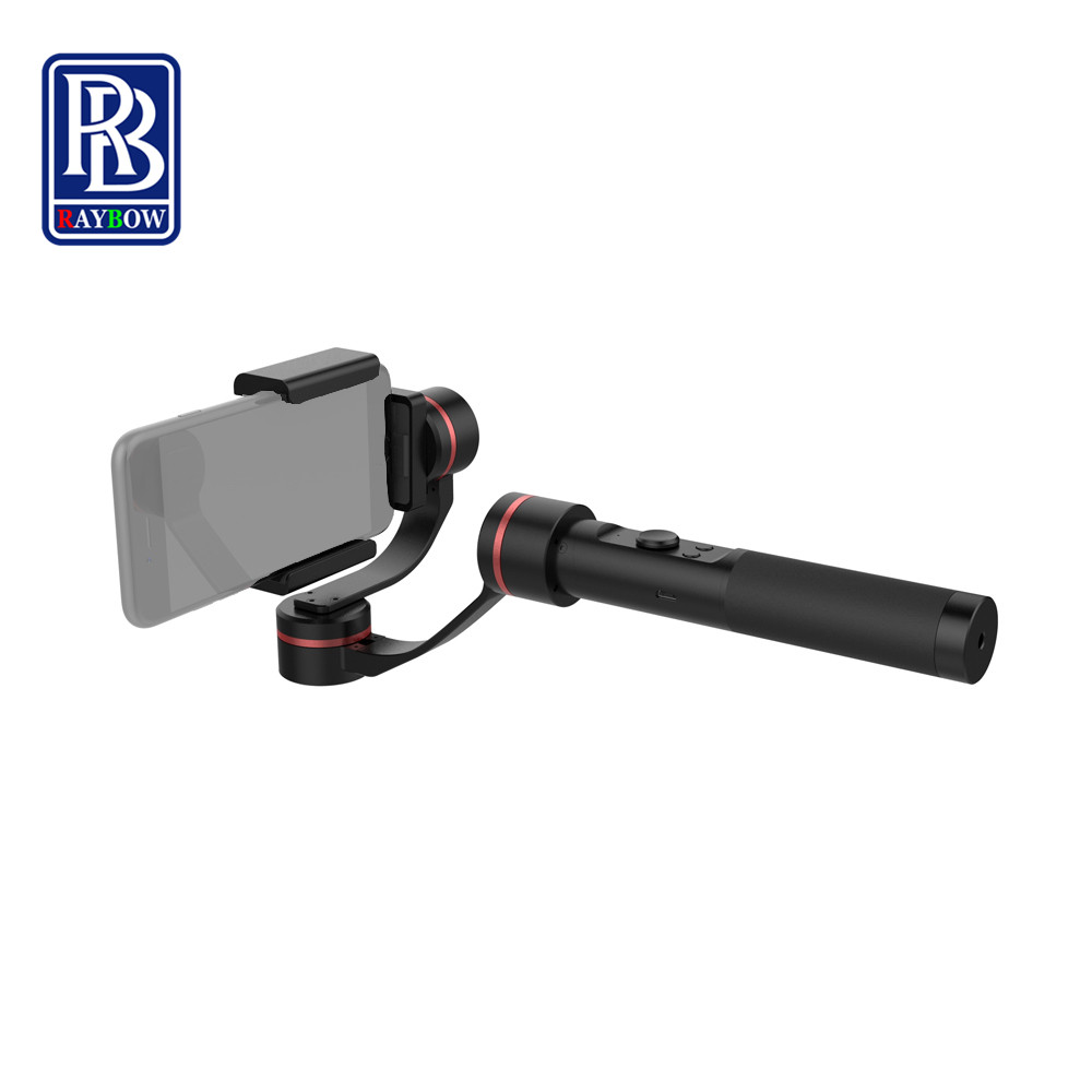 Raybow S2 brushless 3 axis stabilized handheld gimbal stabilizer for iphone gopro sjcam action camera font