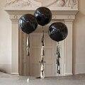 Черные круглые латексные шарики, 1 шт., большие шары для свадьбы и дня рождения вечерние украшения 36 дюймов 90 см, надувной воздушный шар