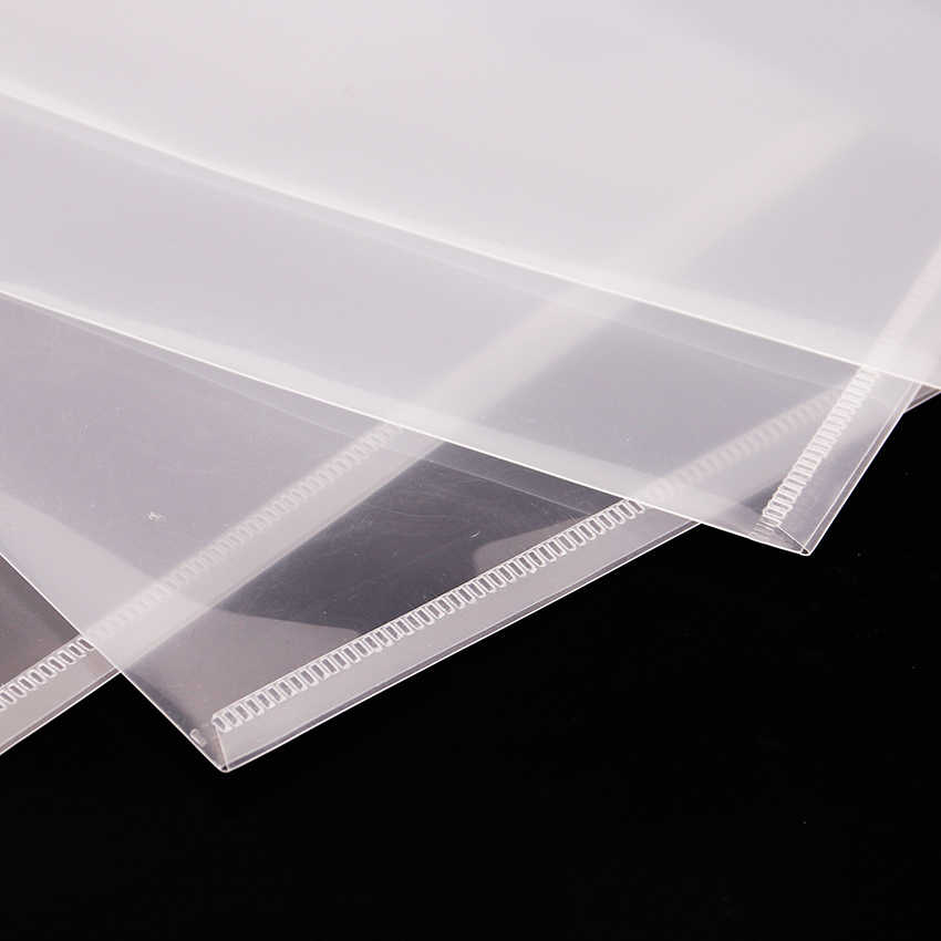 1 Pc Cute Fashion Transparan A4 Penutup Tombol Folder Dokumen Arsip Tas File Folder Stationery Tas Filing Produk