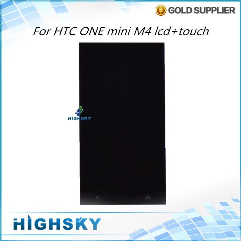4.5 inch black 1 piece free shipping new test replacement for htc one mini lcd m4 601e screen with touch digitizer complete