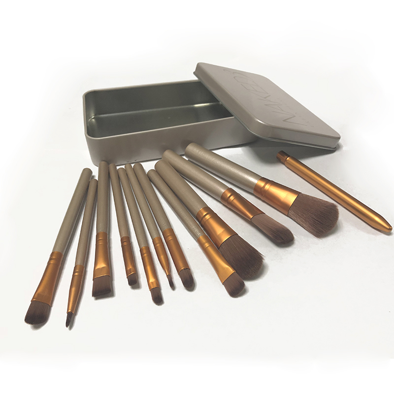 2018 New 12Pcs Nake Brushes Cosmetics Tools NK3 Rose Gold Face Eyeshadow Eyeliner Lip Brush Set Tool Pinceis Maquiage Make Up