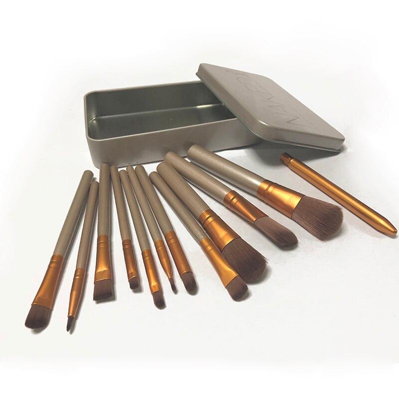 2018 New 12Pcs Nake Brushes Cosmetics tools NK3 Rose Gold Face Eyeshadow Eyeliner Lip Brush Set Tool Pinceis Maquiage Make Up