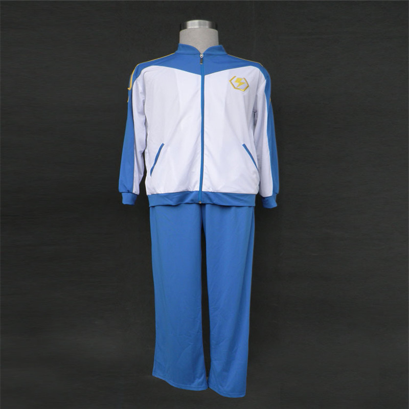 Cosplay anime clothing lightning 11 -- Japan football team in the winter wear white clothing apparel Cosplay.