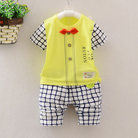 High Quality Baby Boy Clothes 2016 Brand Summer Kids Clothes Sets T Shirt Pants Suit Clothing