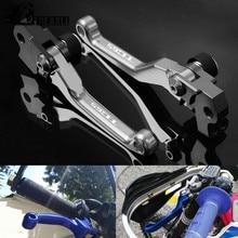 CNC Aluminum Brake Clutch Levers Motorcycle Motorbike Part Printing Pivot Dirt bike Dirtbike For HUSQVARNA TC65 TC 65 2017 2018