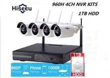 Hiseeu Wireless CCTV System 960P 4ch Powerful Wireless NVR KITS 1TB HDD IP CameraCCTV Home Security System Surveillance Kit
