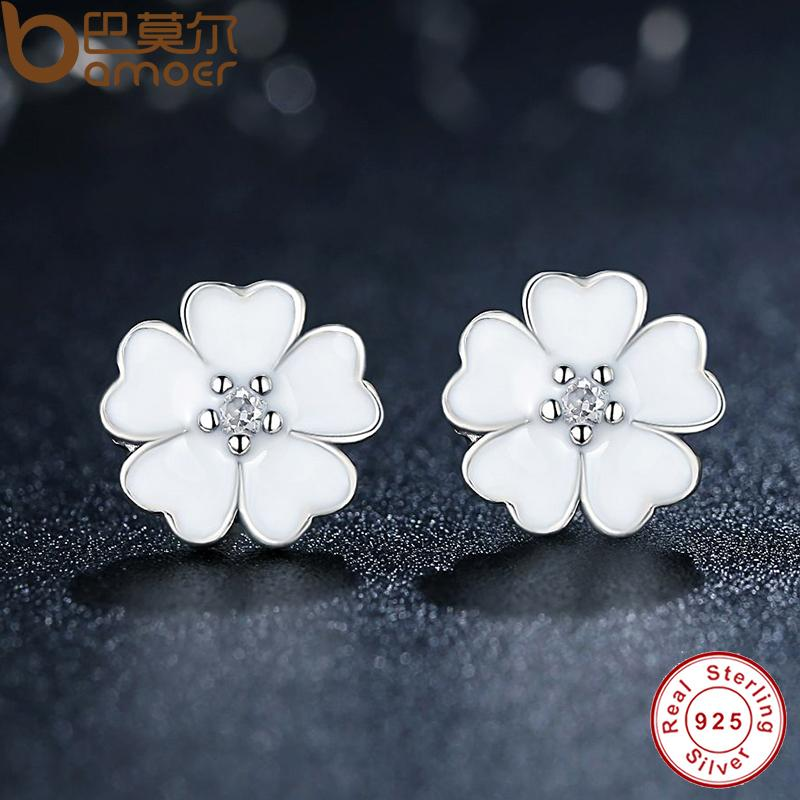 metal earrings rhinestone for brincos floral white from item in fashion stud women flower new pendientes big statement