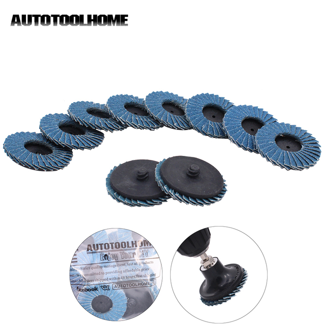 50mm 2 Flap Disc Sanding Disk For Rolor Roll Lock 80 Grit Abrasive Tools Fits Polishing Metal Iron Rust Removal Grinding Wheel