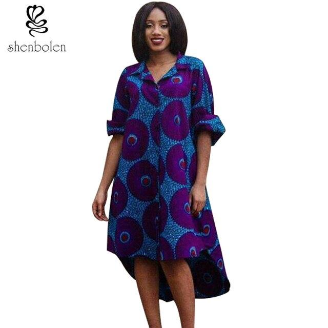 c5eba390eaaaf Shenbolen أفريقيا Clothies للنساء القطن طباعة سترة جودة عالية أنقرة طويلة الأكمام  أزياء ملابس حريمي