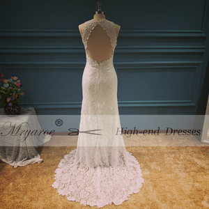 Image 3 - Mryarce vestido elegante Bohemia boda, espalda abierta, encaje elástico suave, favorecedor, abertura frontal, novia Bohemia