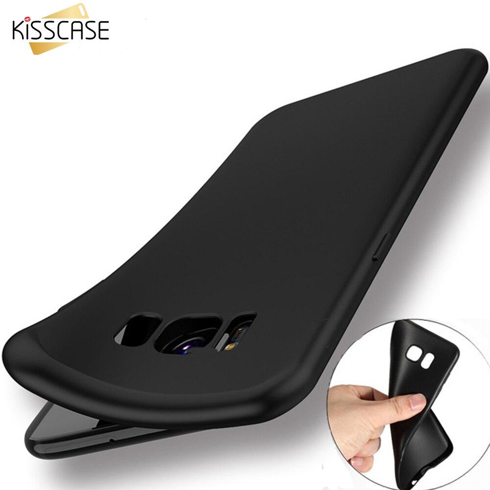 Kisscase Мягкие TPU ультра тонкий матовый чехол для Samsung Galaxy S8 S8 плюс S7 S6 край крышки для Samsung s8plus защитная задняя