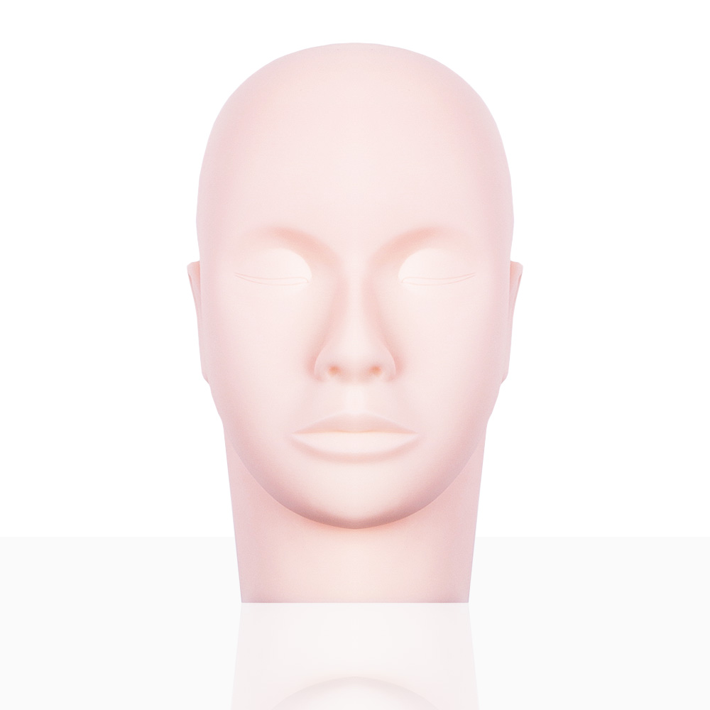Flat Silicone Mannequin Head Massager Eyelash Extensions Training Makeup Mannequin Head For Makeup Practice Eyelash Training Kit