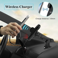 New Wireless Charger USB Auto sensing Wireless Car Charger For All QI enable Devices Cell Phone DC 5V/2A 9V/1.6A