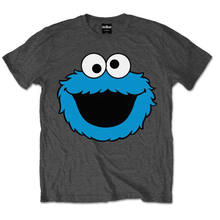 4a1cf34f7488 Cookie Monster Cookies Official Sesame Street Grey Mens T-shirt Cool Casual  pride t shirt men Unisex New Fashion tshirt