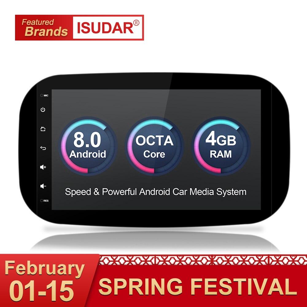 Isudar lecteur multimédia De Voiture autoradio GPS Android 8.0 Pour Mercedes/Benz/SMART 2016 OBD2 Bluetooth USB DVR Vue Arrière caméra DAB