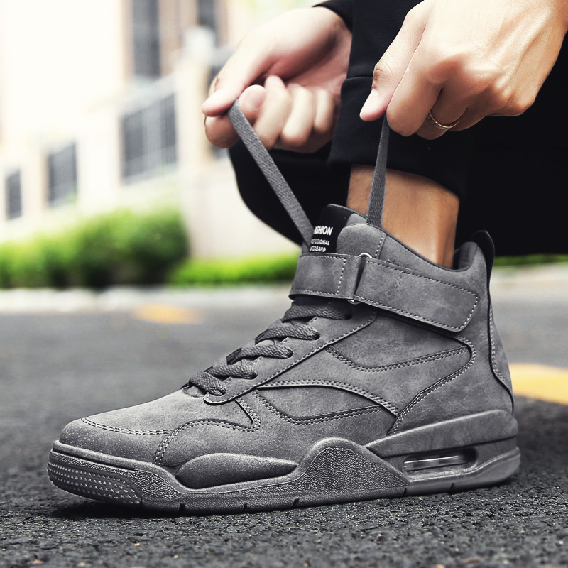 Men Shoes 2019 New Mens casual Shoes High Top Sneakers fashion Male Athletic Outdoor Jogging Shoes Zapatillas Hombre Deportiva in Men 39 s Casual Shoes from Shoes