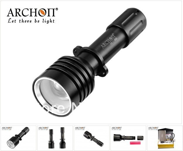 ФОТО ARCHON D10U CREE XM-L U2 LED 860 Lumens Underwater Diving Flashlight  zoomable Diving Light/underwater photographing light