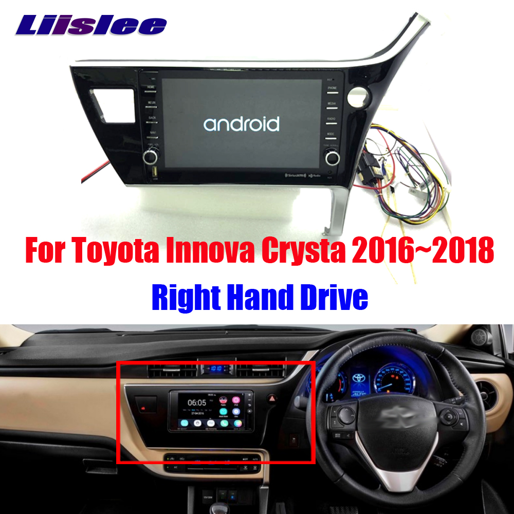 Liislee Android For Toyota Innova Crysta R H D Stereo Original Car style Video Carplay GPS