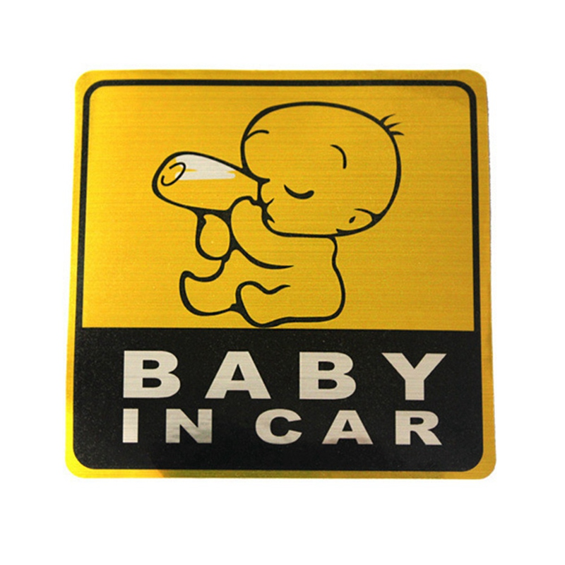 11*11cm Baby in car Baby Car Stickers Child on Board Lovely Decals Waterproof Eye-catching Reflective
