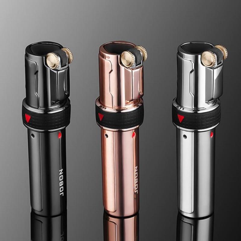 2019 new Windproof Cigarette Lighter Metal Gas Lighter Cigarettes Torch Lighter Turbo Jet 1300 C Butane Lighters Long strip in Matches from Home Garden