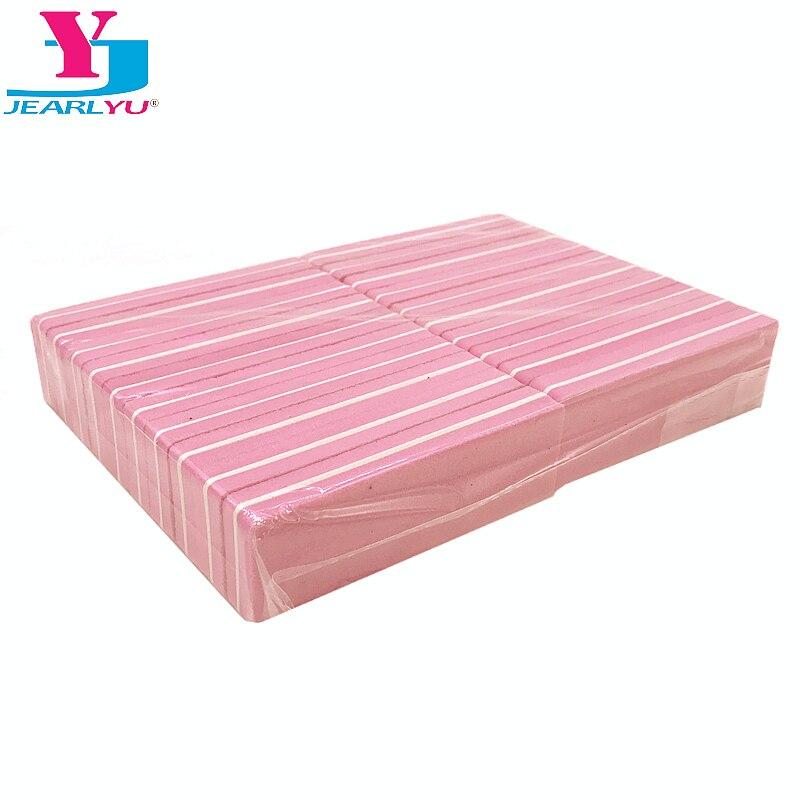 20Pcs Nail Art Sanding Pink Nail File Sandpaper Grit Buffer Professional News Sanding Block Nail Art Washable Manicure Files