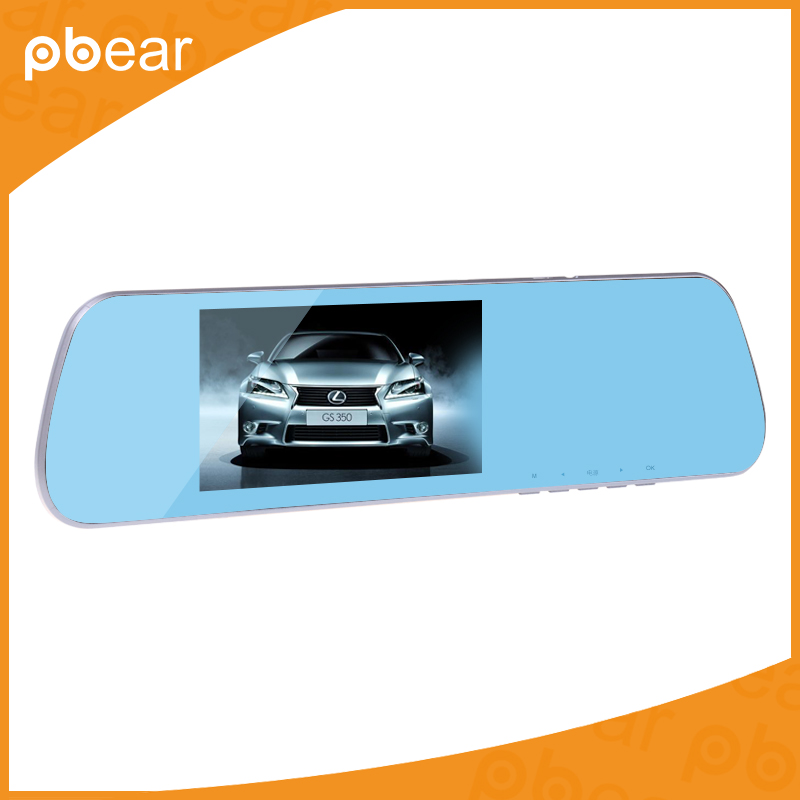 Pbear 5.0 inch Car Recorder Rearview mirror Dual Lens with LDWS ADAS System Support Front Car Distance warning Dash Camcorder футболка esprit esprit es393ebrhk89