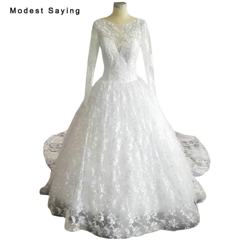 Wedding Dresses 2018 Couture Ball Gowns Elegant Royal: New Arrival Elegant Royal White Ball Gown Lace Wedding