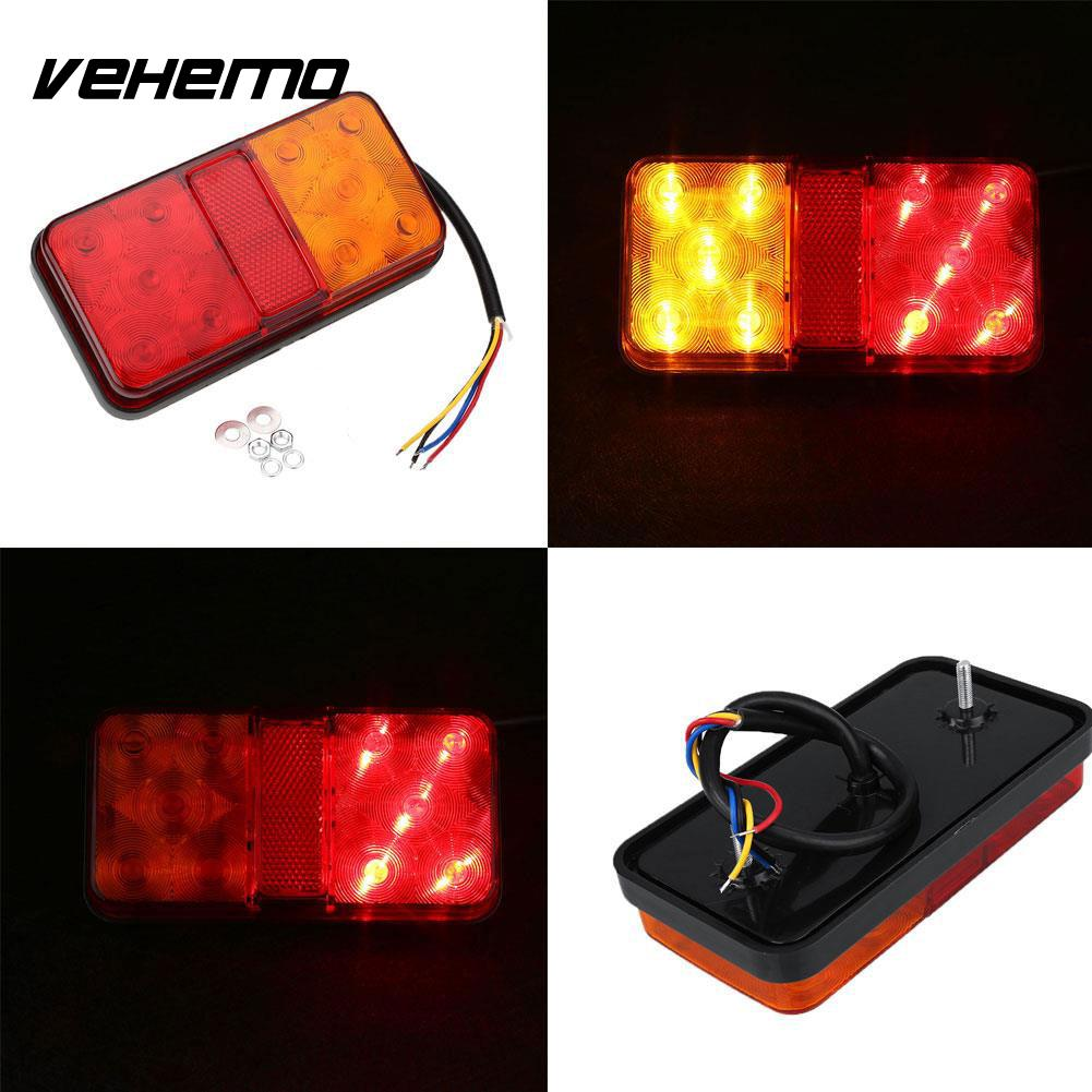 12V 10 LED Truck Car* Rear Tail Light Stop Indicator Turn Signal Taillight 12v 3 pins adjustable frequency led flasher relay motorcycle turn signal indicator motorbike fix blinker indicator p34