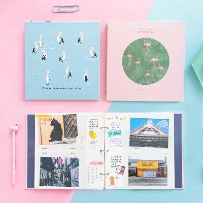 Mode bricolage Album Photo Scrapbook voyage mariage bébé mémoire livre 6 pouces 100 Photos Interleaf Album De Fotos