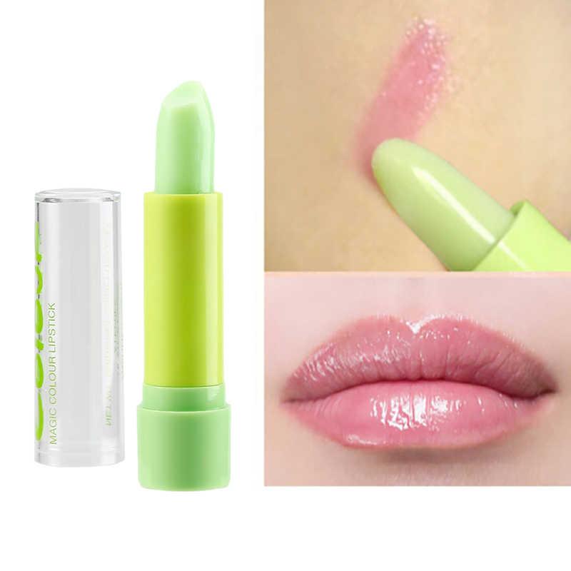 1 Pc טבעי גבוהה לחות שפתי טמפרטורת שינוי צבע אנטי-הזדקנות הגנה לטשטש איפור שפתון TSLM2