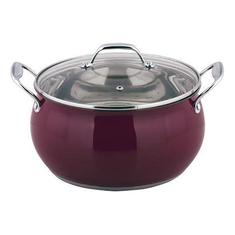 Pot with lid Esprado Turia Marsala TRML18ME101 ibili 418328 stock pot with lid vital 28 cm