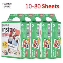 10-80 шт. Подлинная пленка fujifilm Instax Mini белая фотобумага фотоальбом мгновенная печать для Fujifilm Instax Mini 7 s/8/25/90/9