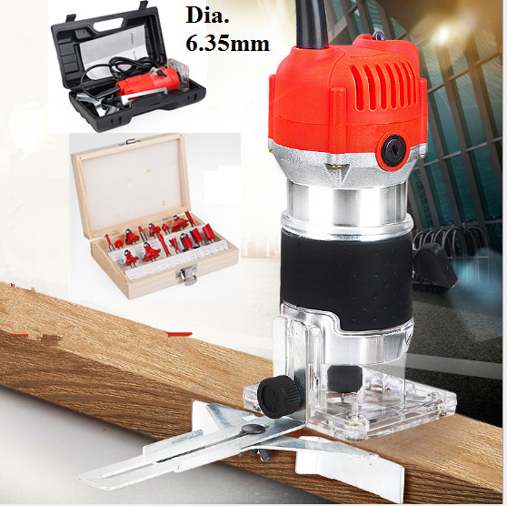 800W Electric Laminate Edge Trimmer Collet Mini Router Wood Carving Machine Carpentry Woodworking Power Tools with