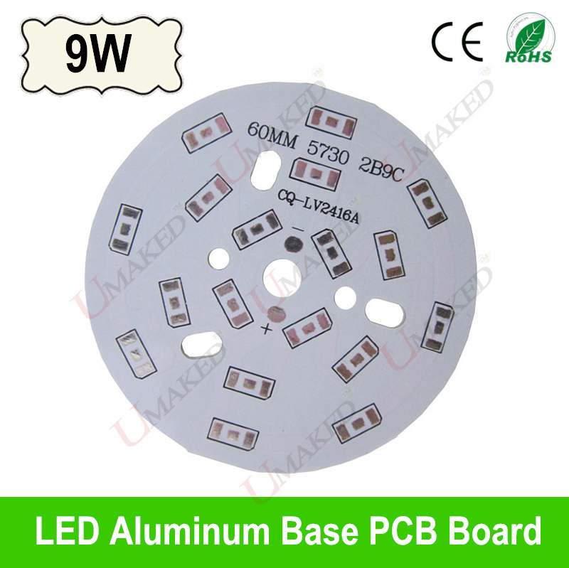 9W 60mm LED PCB board for 5730 5630 leds, Heat sink board, 9W LED aluminium plate Base for bulib light, ceiling light  10pcs led aluminum plate 40mm for 5w 5730 smd heat sink