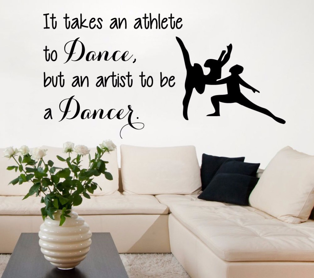 Aliexpress.com : Buy Dance Wall Decal Sport Dance Man Woman Dancers Quote  PVC Wall Sticker Dance Room Gym Wall Sticker Bedroom Decorative Decoration  From ...